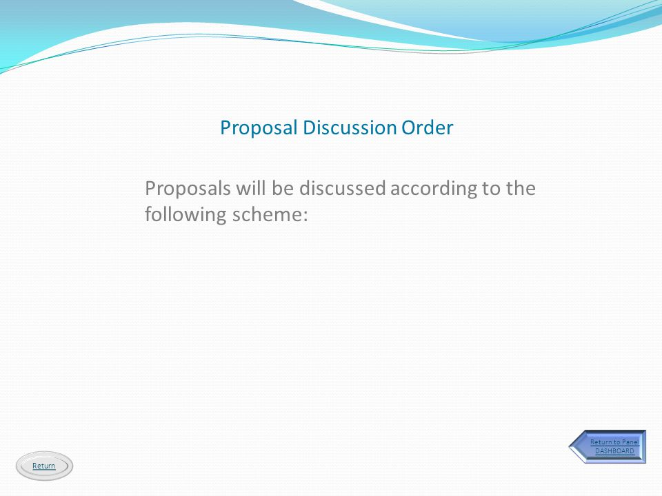 Proposal Discussion Order