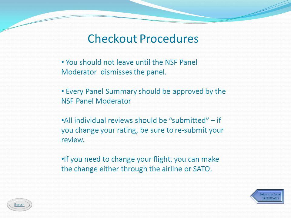 Return to Panel DASHBOARD