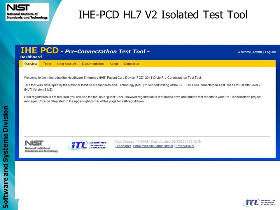 IHE-PCD HL7 V2 Isolated Test Tool