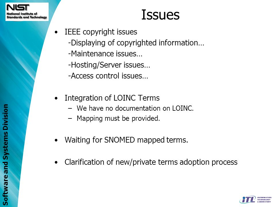 Issues IEEE copyright issues -Displaying of copyrighted information…