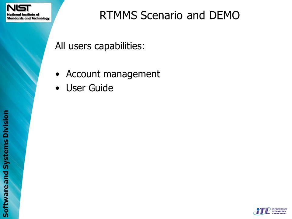 RTMMS Scenario and DEMO