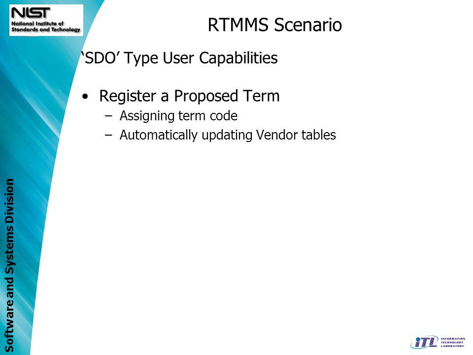 RTMMS Scenario 'SDO' Type User Capabilities Register a Proposed Term
