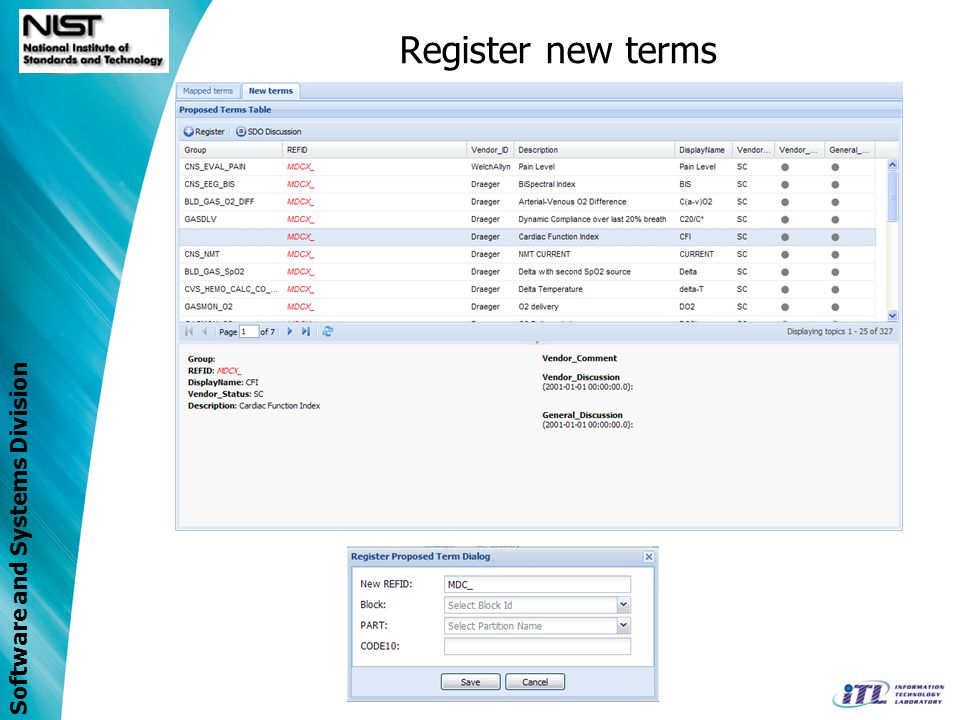 Register new terms