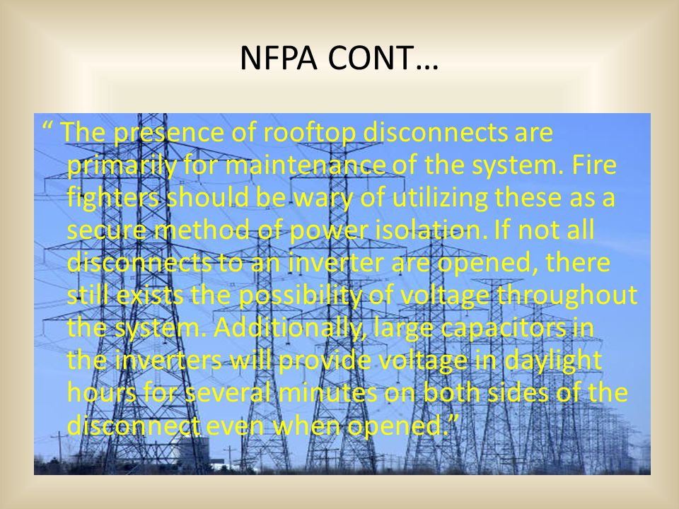 NFPA CONT…