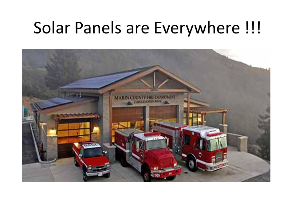 Solar Panels are Everywhere !!!