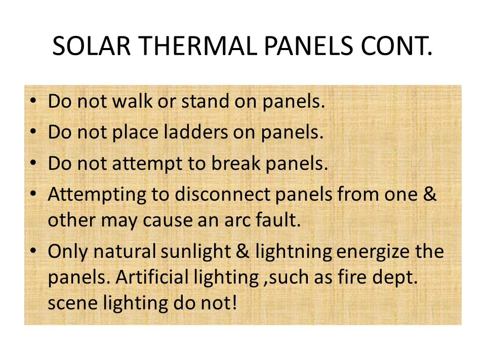 SOLAR THERMAL PANELS CONT.