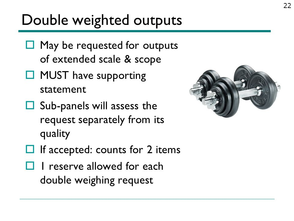 Double weighted outputs