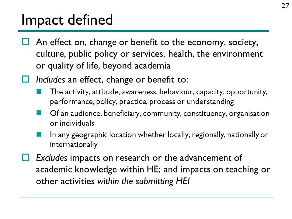 Impact defined