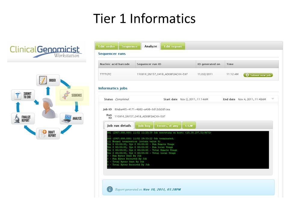 Tier 1 Informatics