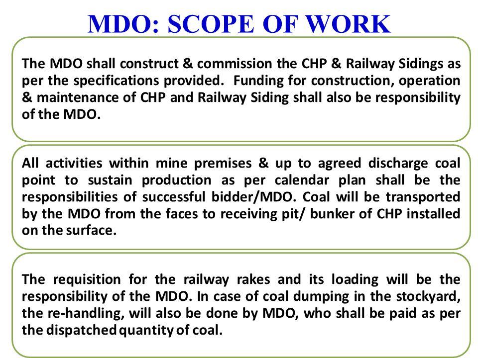 MDO: SCOPE OF WORK