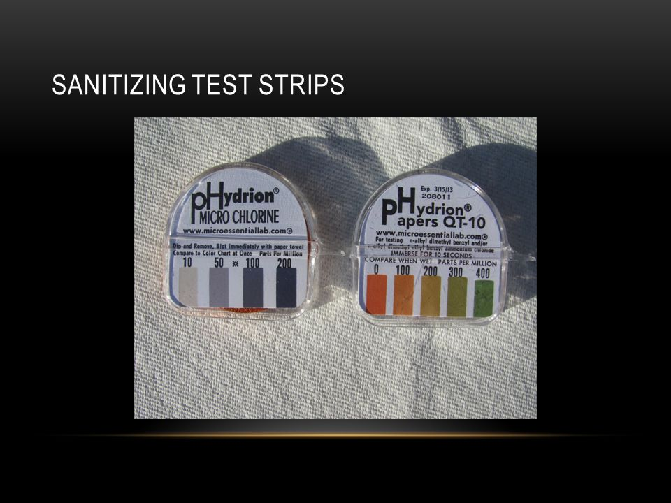 Sanitizing Test Strips