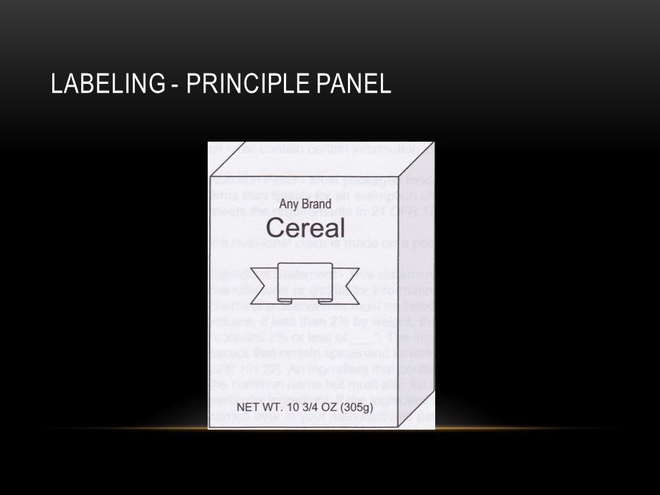 Labeling - Principle Panel