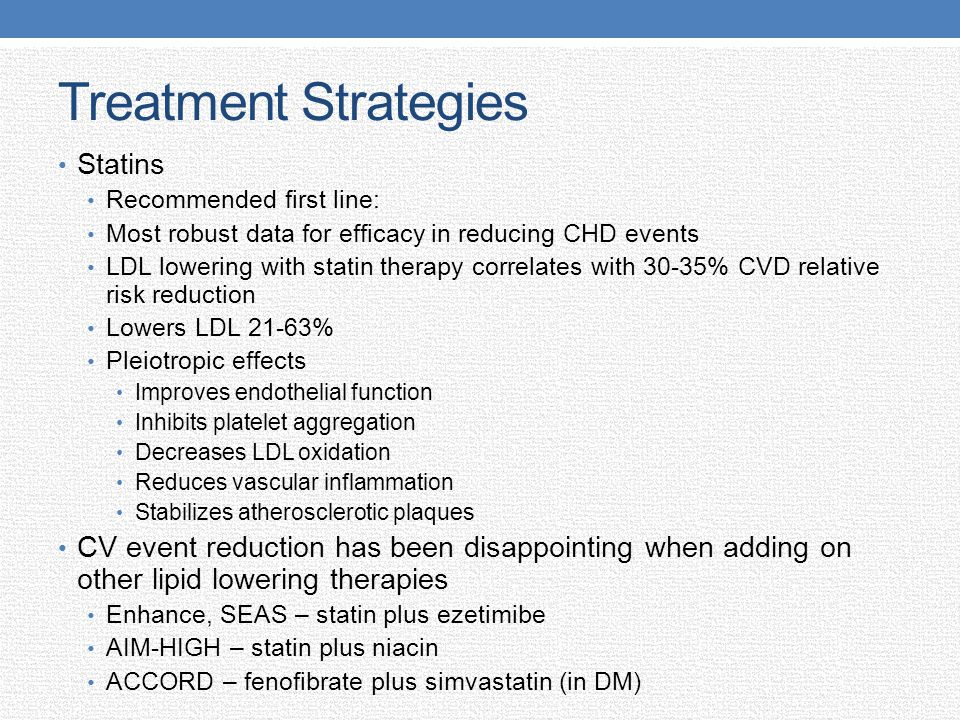 Treatment Strategies Statins