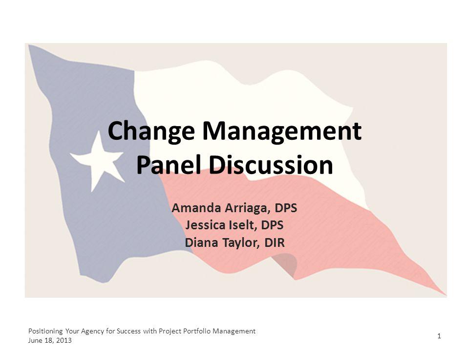 Change Management Panel Discussion