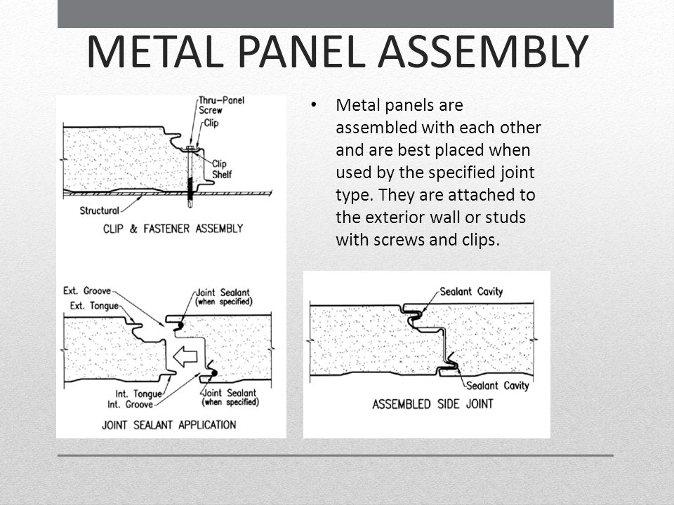 METAL PANEL ASSEMBLY