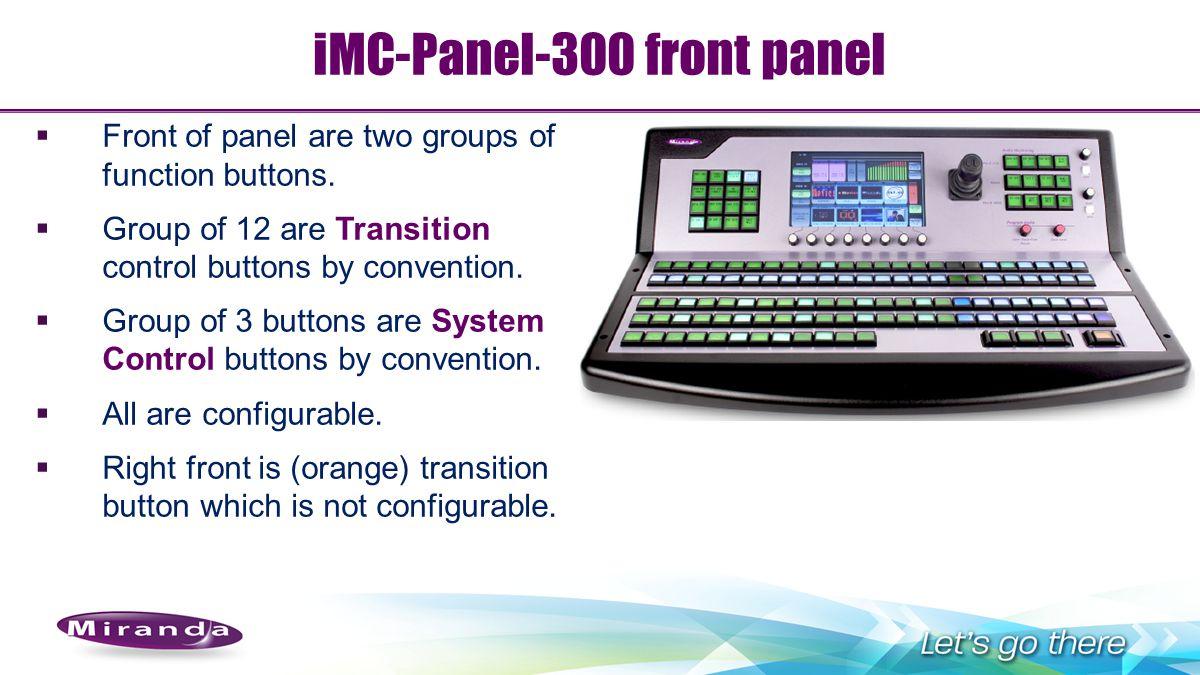 iMC-Panel-300 front panel