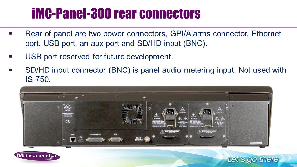 iMC-Panel-300 rear connectors