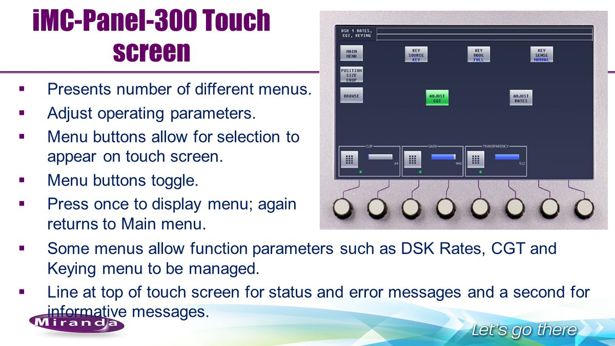iMC-Panel-300 Touch screen