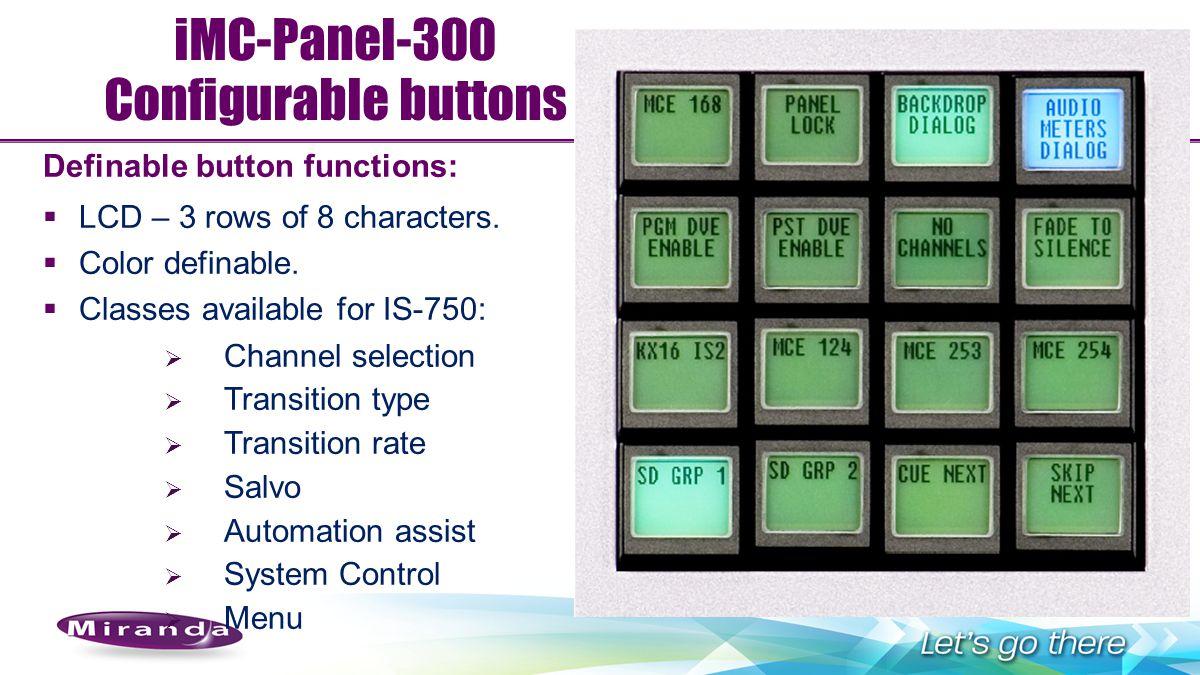 iMC-Panel-300 Configurable buttons