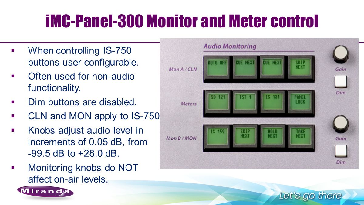 iMC-Panel-300 Monitor and Meter control
