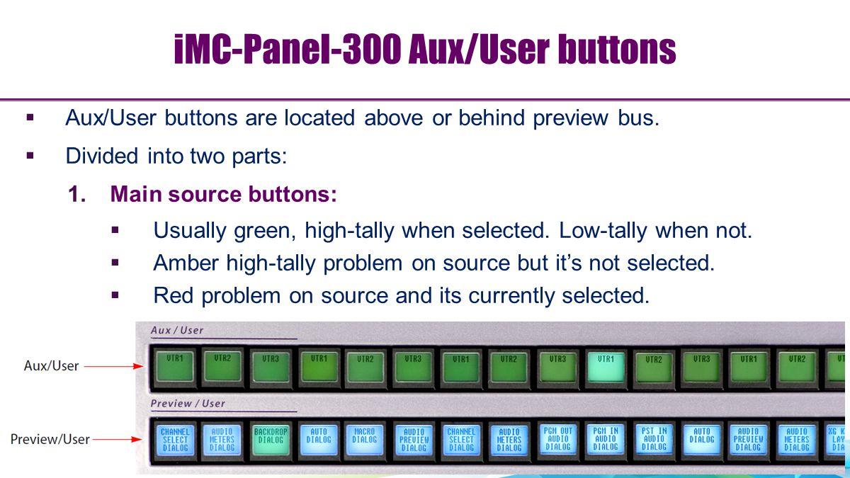 iMC-Panel-300 Aux/User buttons