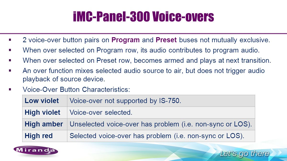 iMC-Panel-300 Voice-overs
