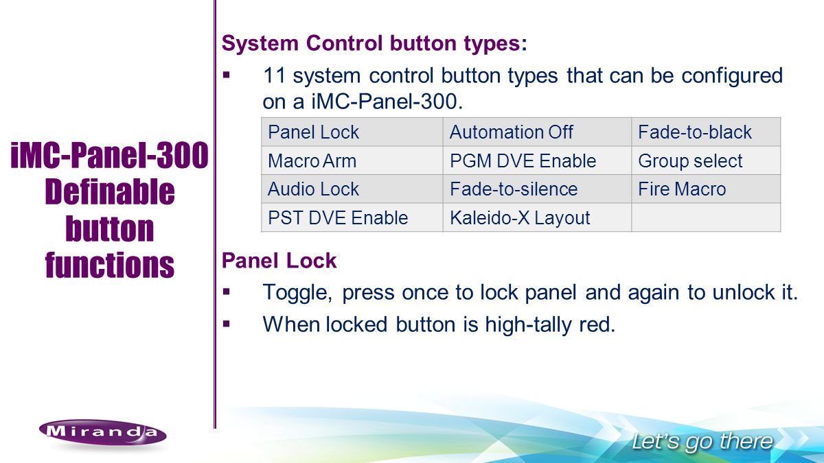 Definable button functions