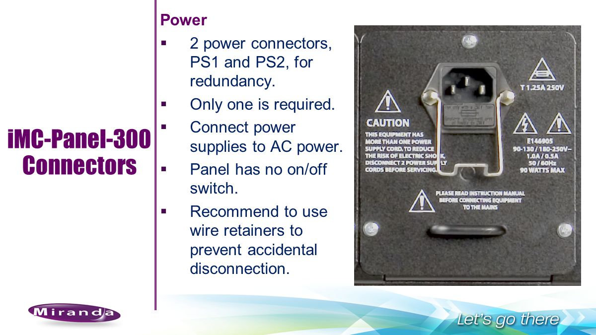 iMC-Panel-300 Connectors Power