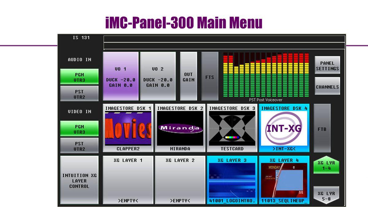 iMC-Panel-300 Main Menu 74
