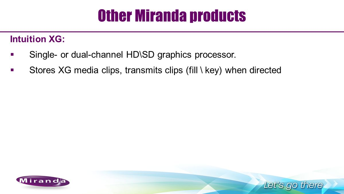 Other Miranda products