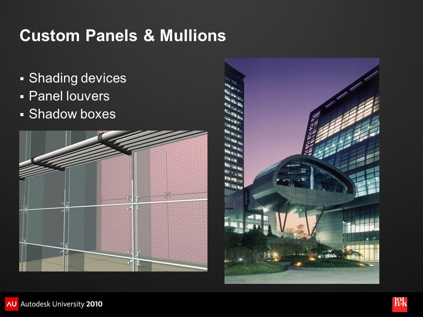 Custom Panels & Mullions