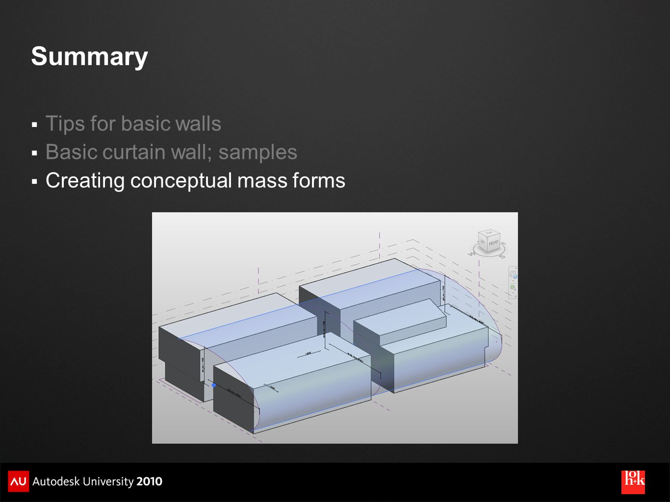 Summary Tips for basic walls Basic curtain wall; samples