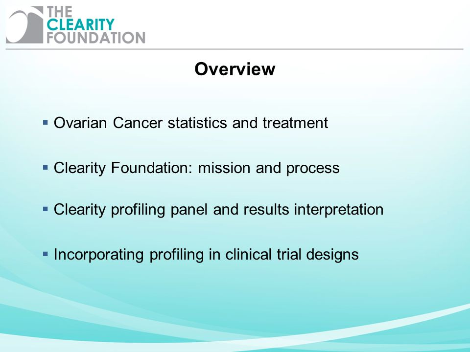 Overview Ovarian Cancer statistics and treatment