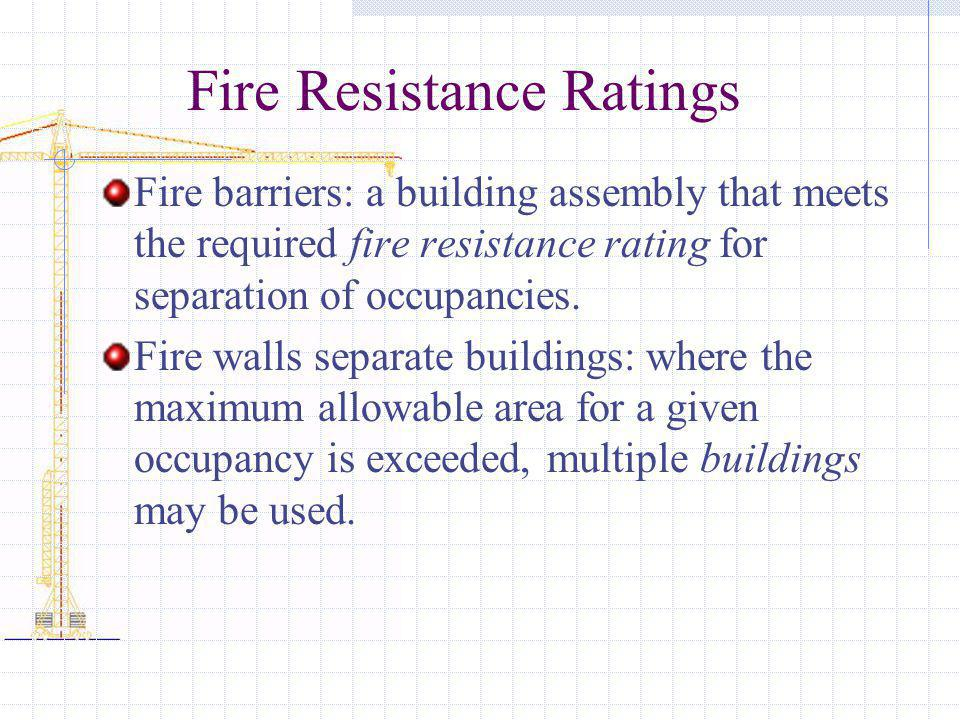Fire Resistance Ratings