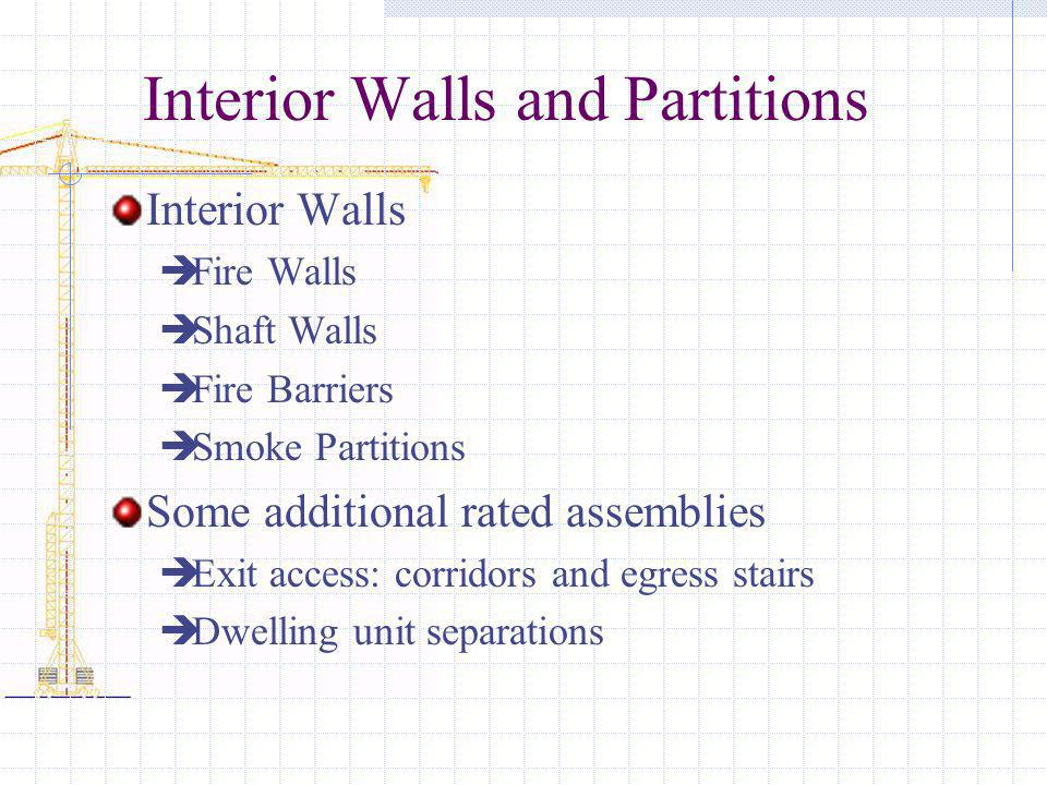 Interior Walls and Partitions