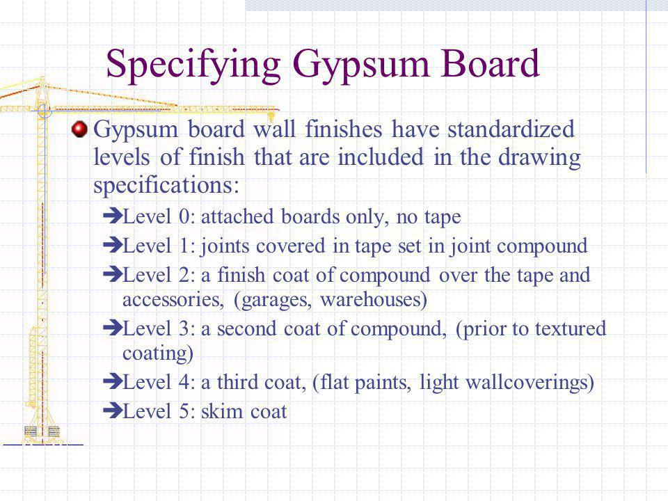 Specifying Gypsum Board