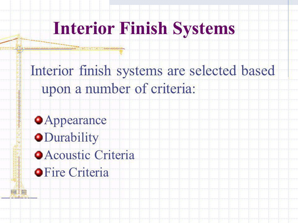 Interior Finish Systems