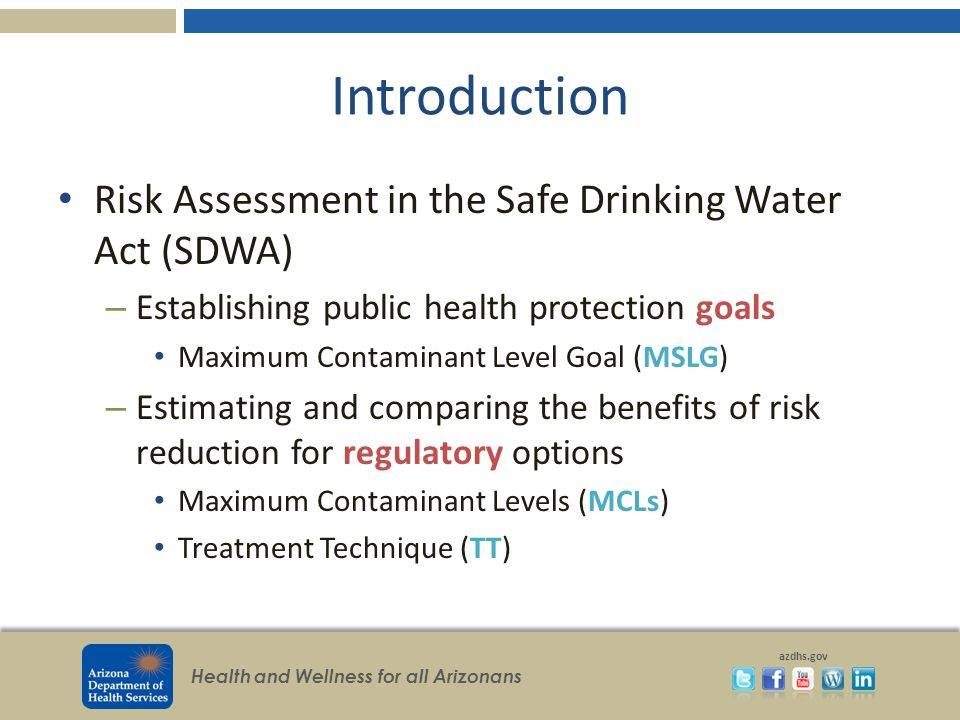 Epa Safe Drinking Water Act Mcls