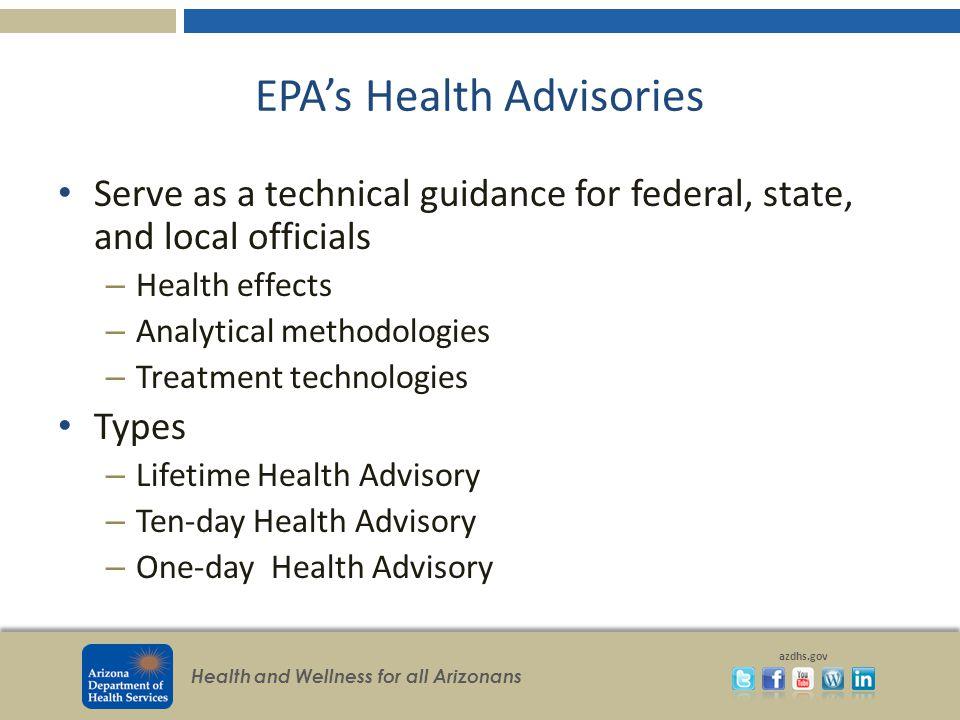 EPA's Health Advisories