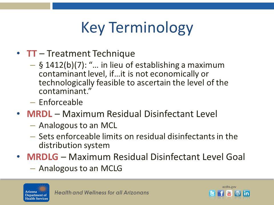 Key Terminology TT – Treatment Technique