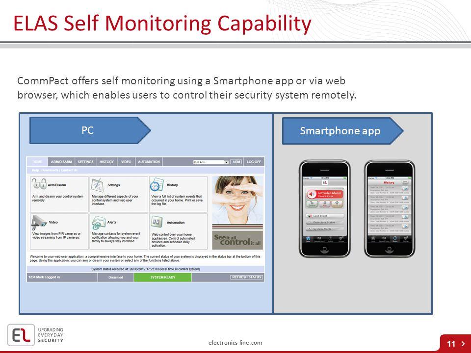 ELAS Self Monitoring Capability