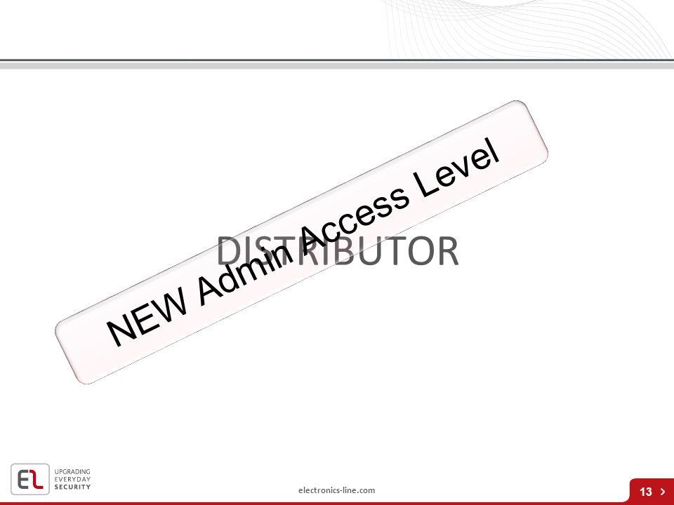 NEW Admin Access Level DISTRIBUTOR