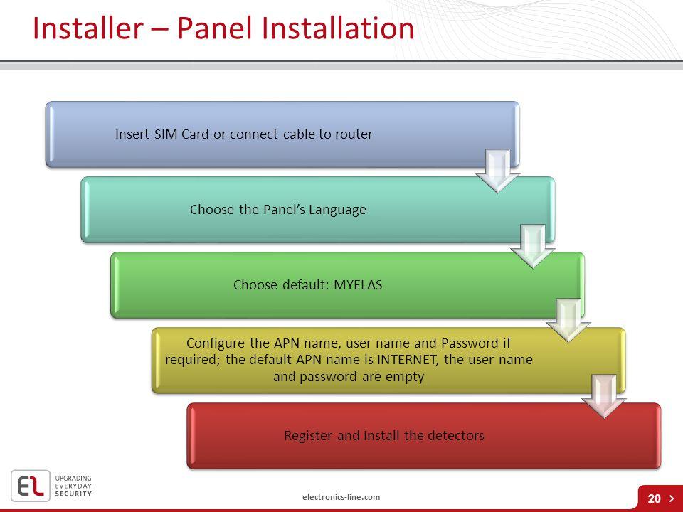 Installer – Panel Installation