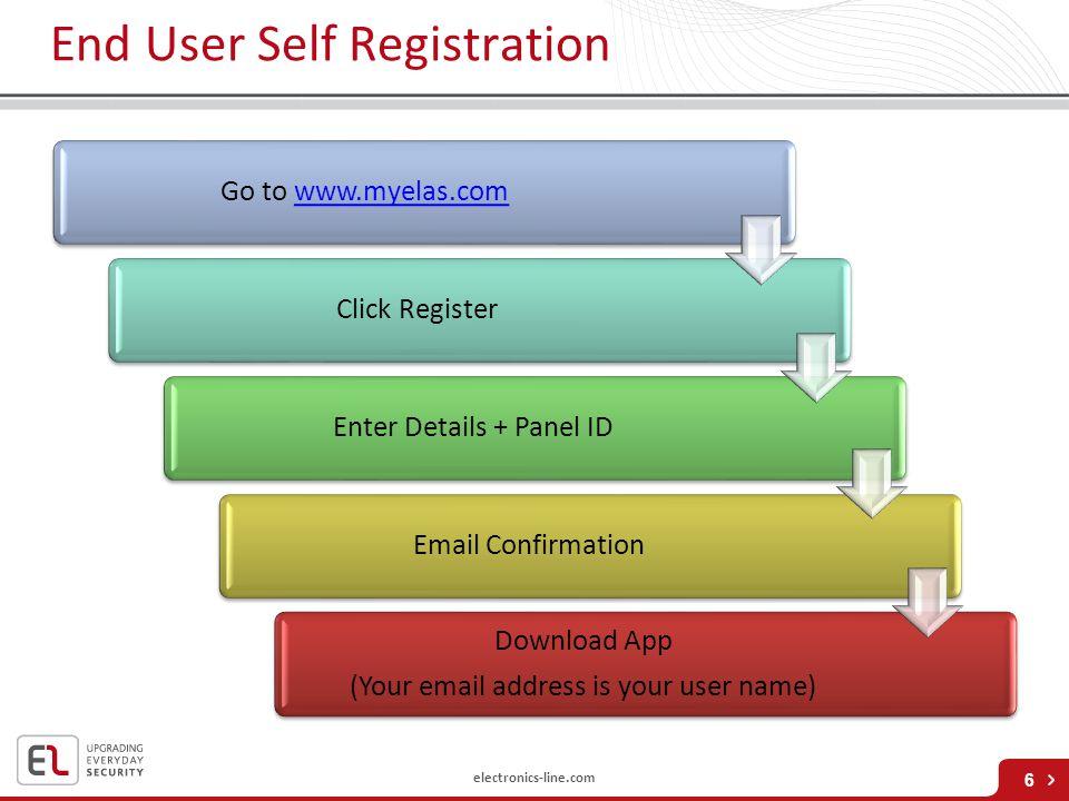 End User Self Registration