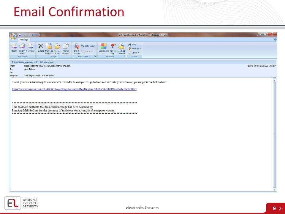 Email Confirmation