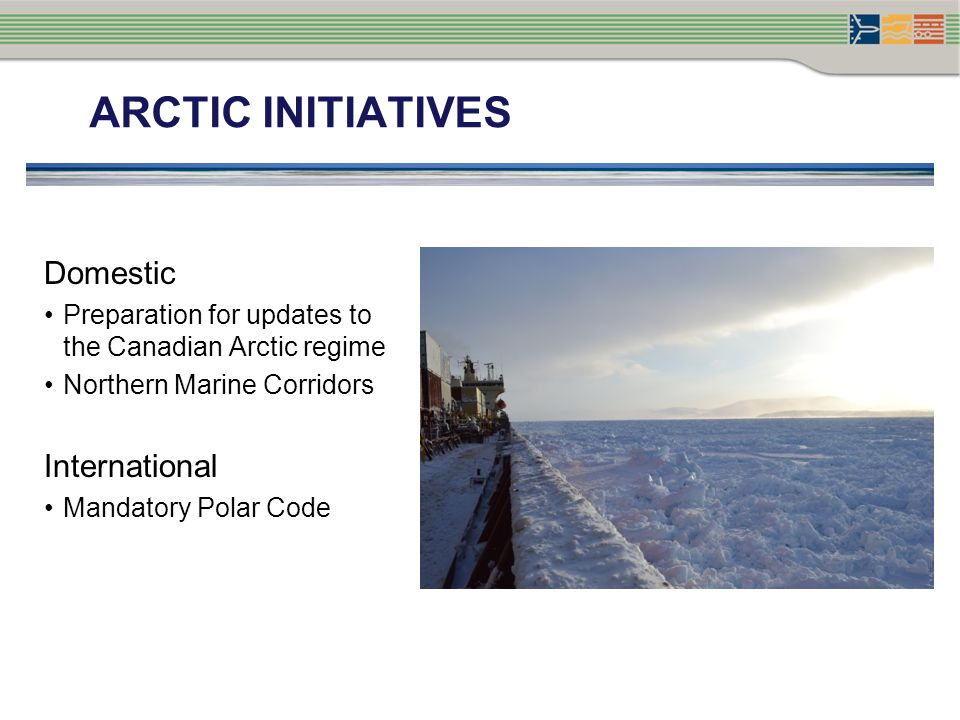 Arctic initiatives Domestic International