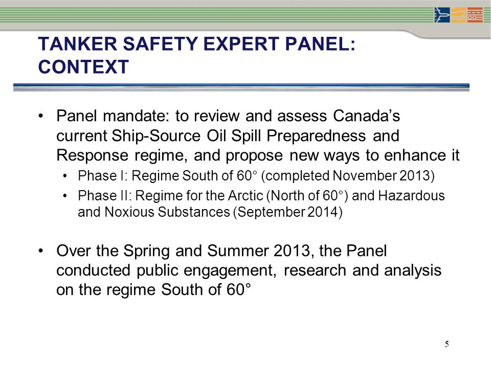 TANKER SAFETY EXPERT PANEL: CONTEXT