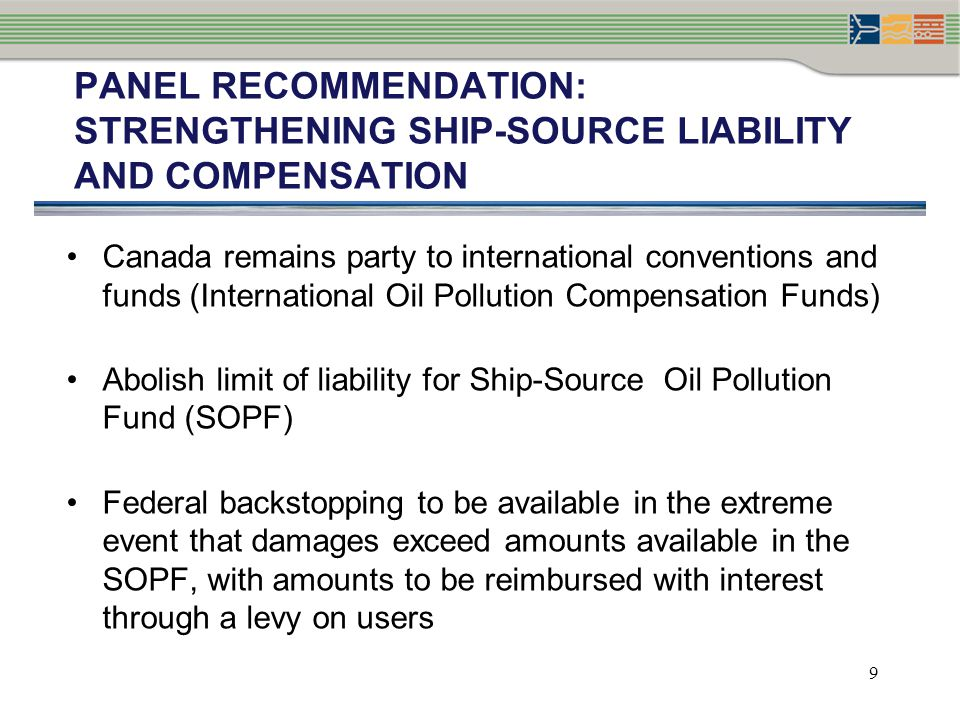 PANEL RECOMMENDATION: Strengthening ship-source liability and compensation