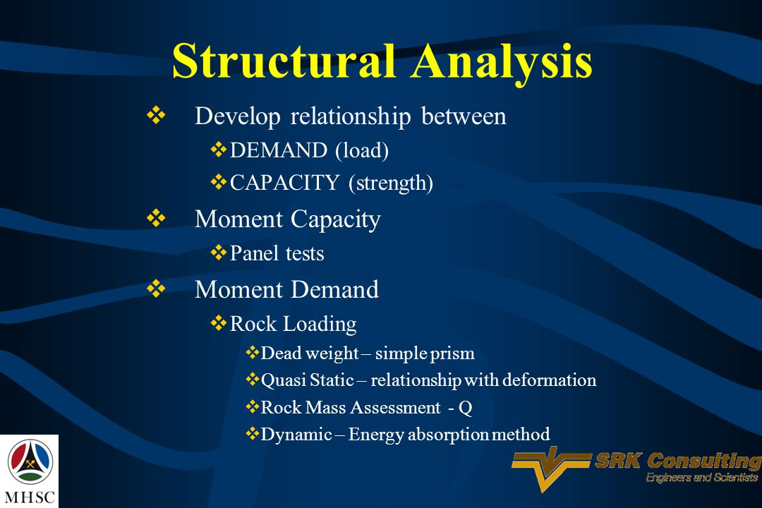 Structural Analysis Develop relationship between Moment Capacity
