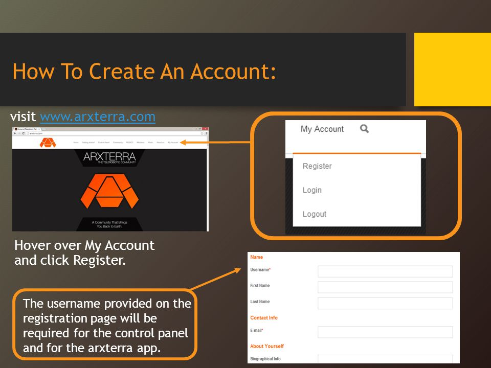 How To Create An Account: